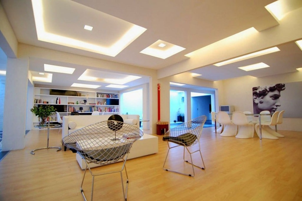 Impressive ceiling design using modern led strip lighting for modern impressive ceiling design using modern led strip lighting for modern living room decorating ideas with unique furniture pieces mozeypictures Gallery