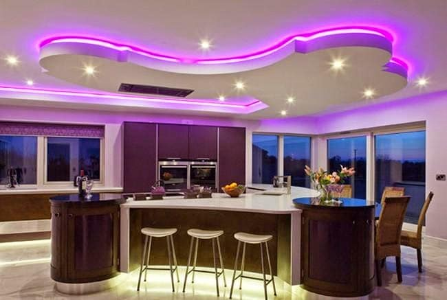 ColoredLEDceilinglightsledstriplightrgbforkitchensuspended - Led strip lights for kitchen ceiling